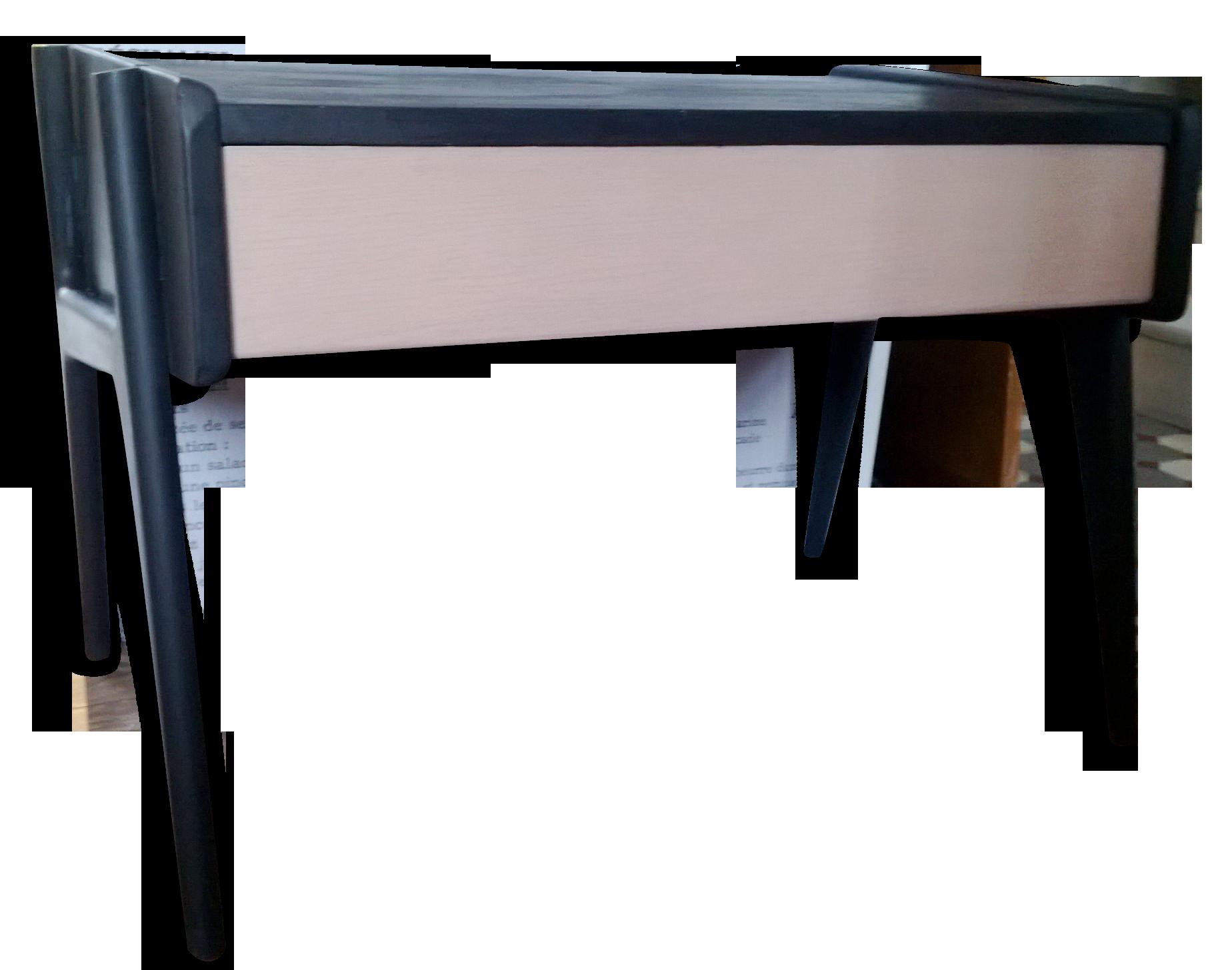 Table ou bureau pour enfant vintage bicolore bois matériau