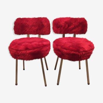 Paire de chaises de marque Pelfran