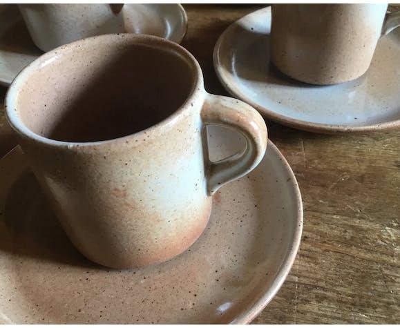 Vintage Marsh coffee cups, set of 7