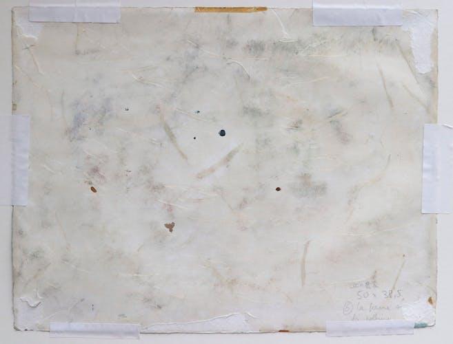 Aquarelle sur papier,  la ferme sur la colline, Eisenschitz Willy