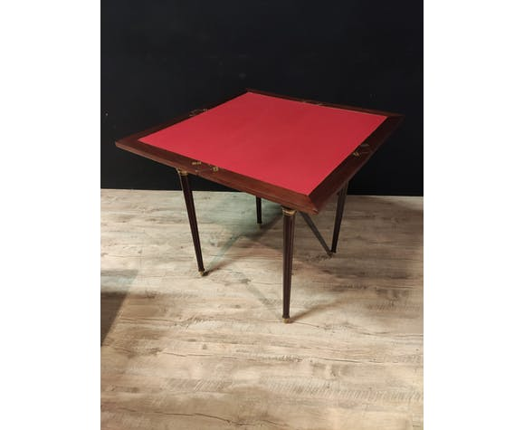 Table à jeu mouchoir style Louis XVl