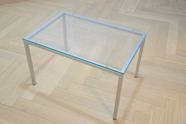 Table basse transparente des années 70