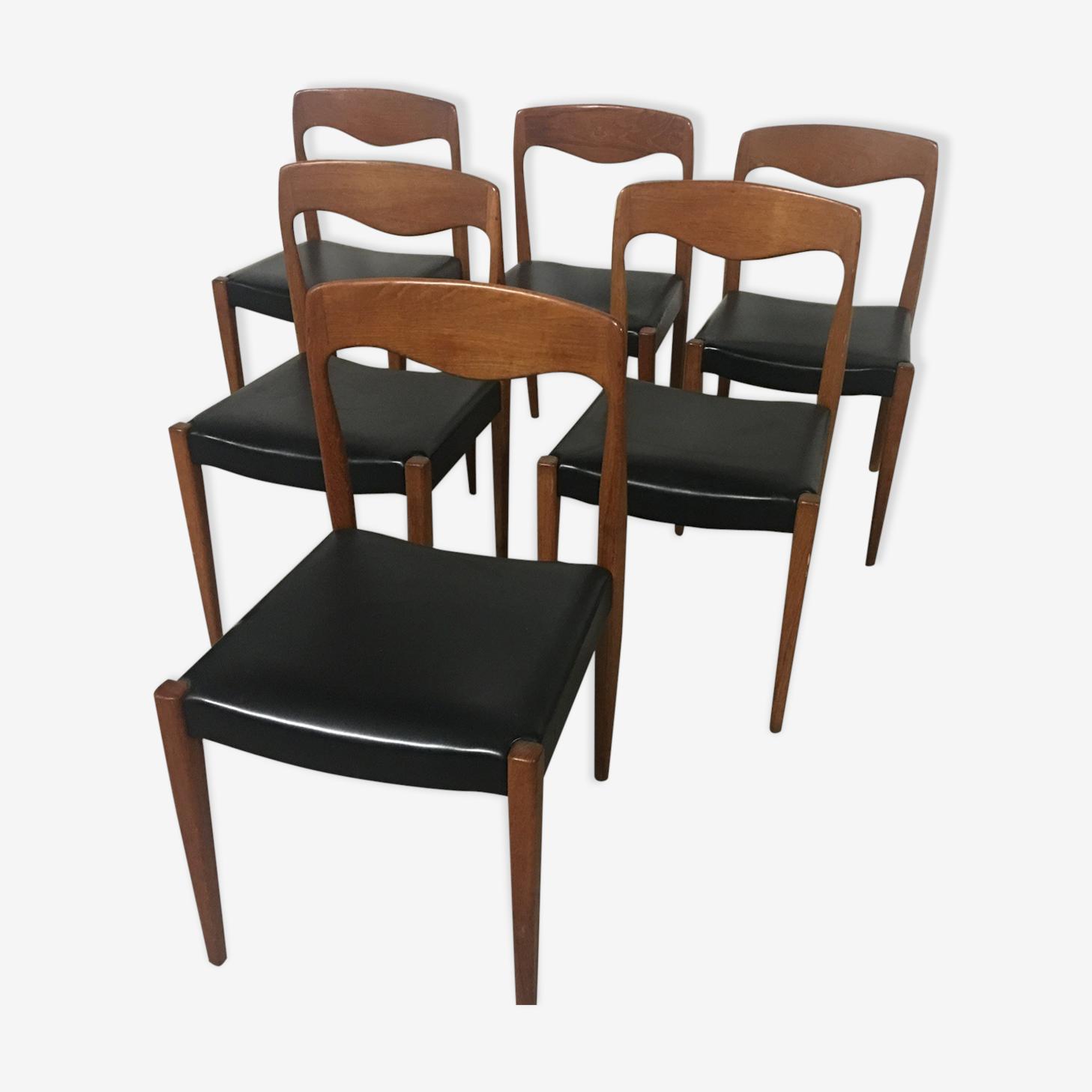 6 chaises années 50 60