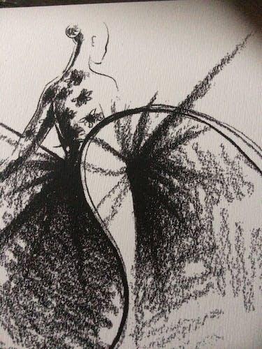Pierre Cardin : illustration de mode de presse - fin des années 80