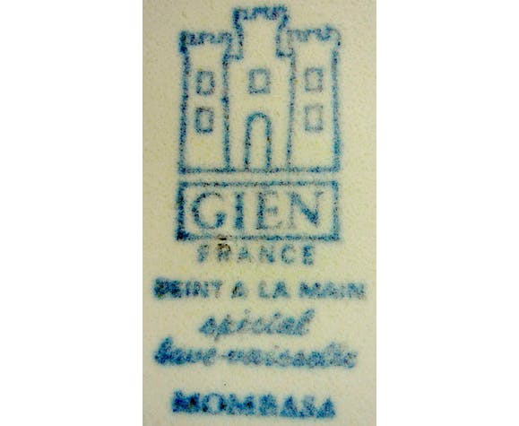 "Gien's ""vintage"" service in earthenware, ""Mombasa"" model"