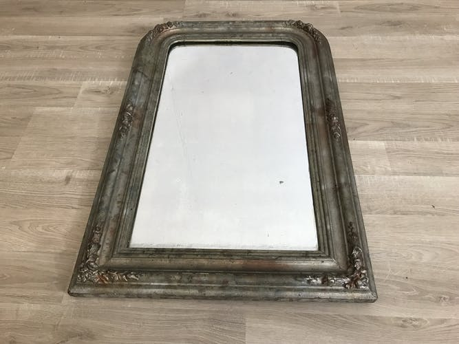 Mirror Louis Philippe marbled grey 52x78cm