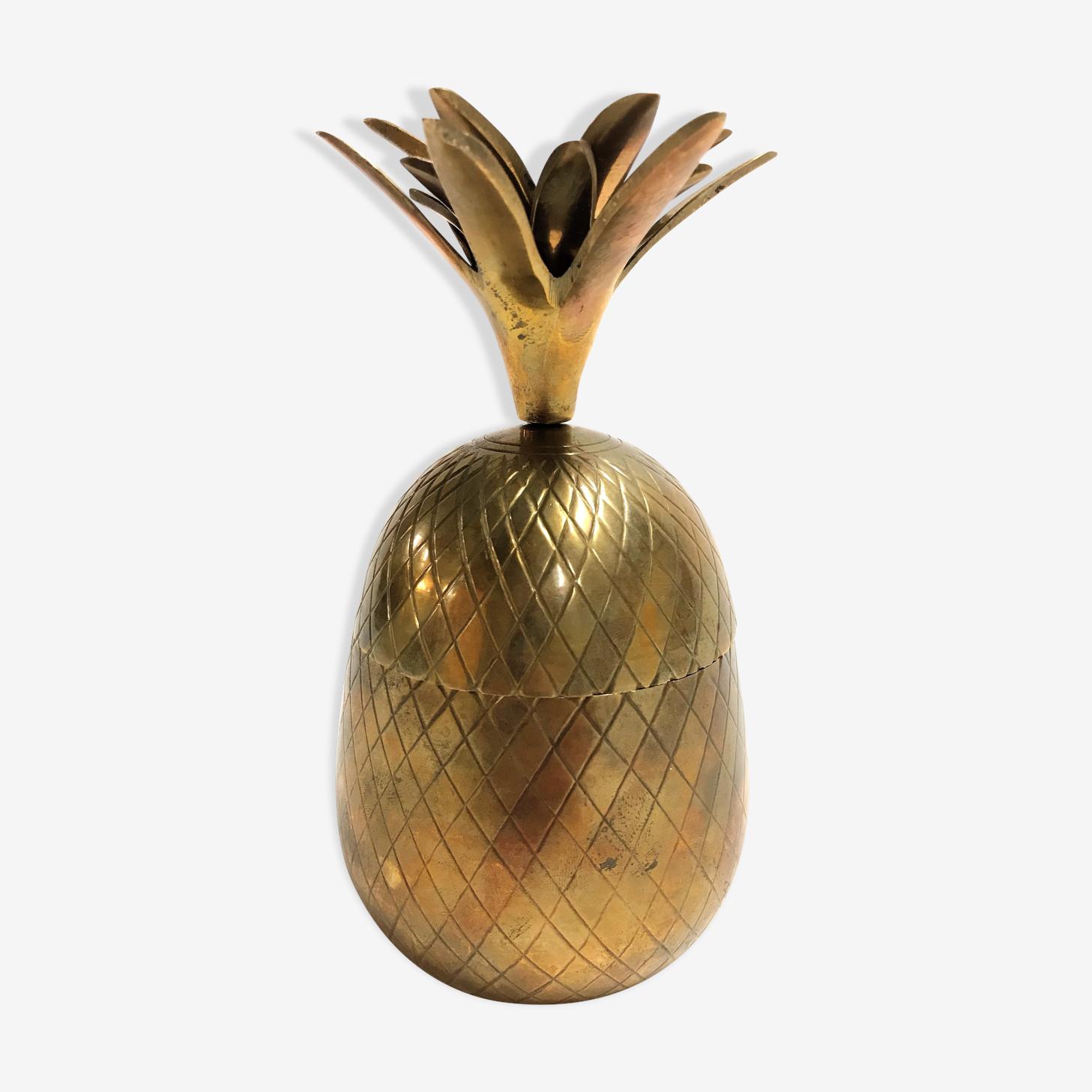 Vintage brass pineapple ice bucket 1970s