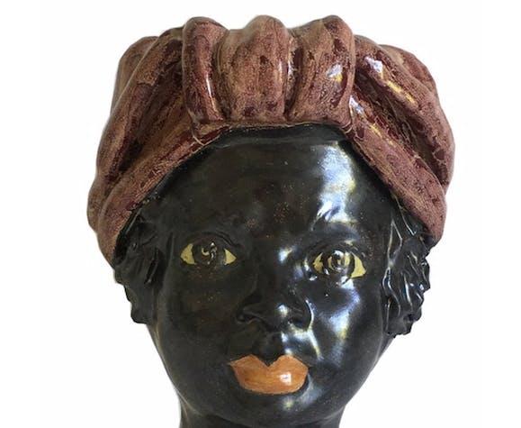 Vase tête mini rouge femme