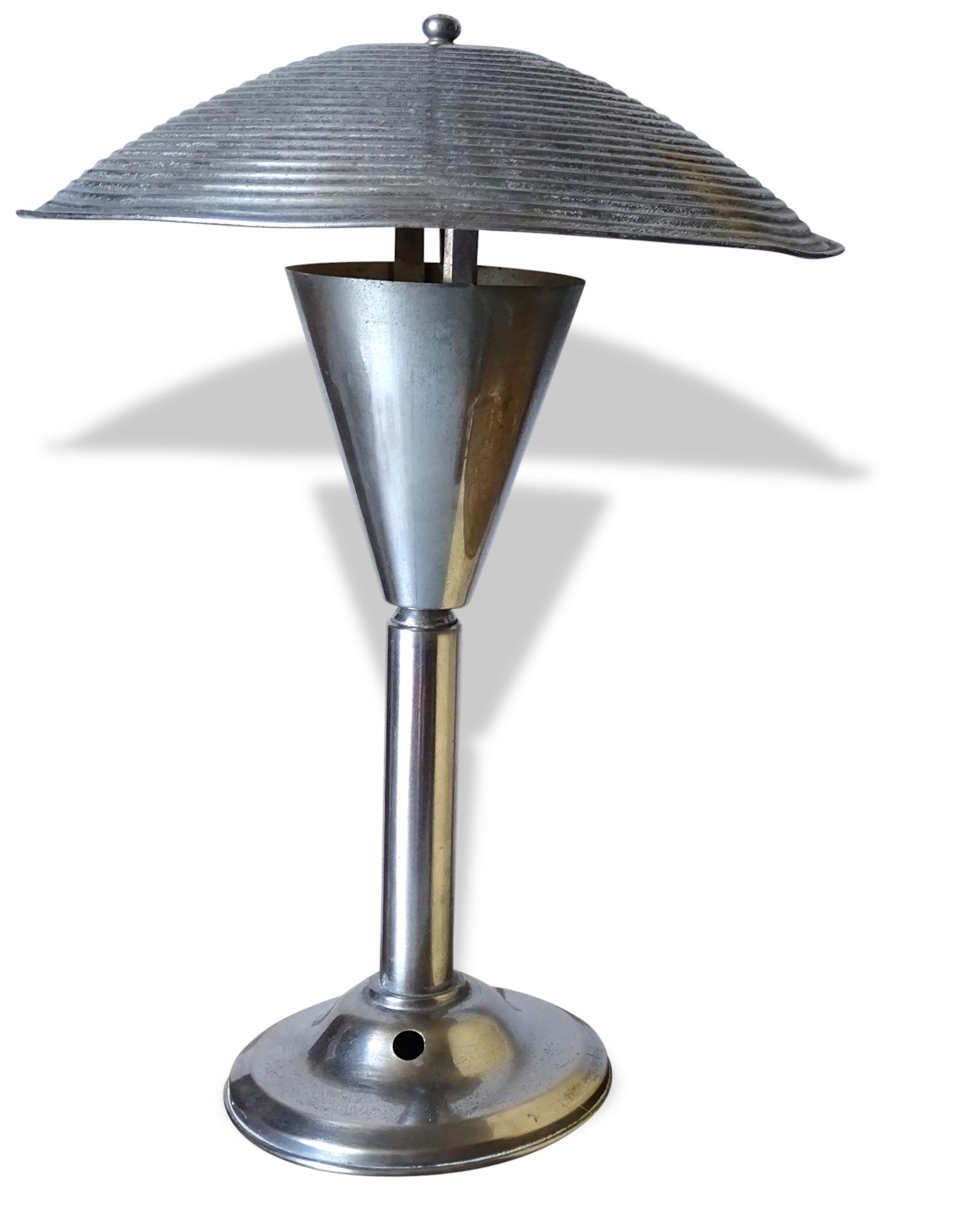 Lampe Champignon Vintage - Métal - Argent (Couleur) - Vintage - 20888