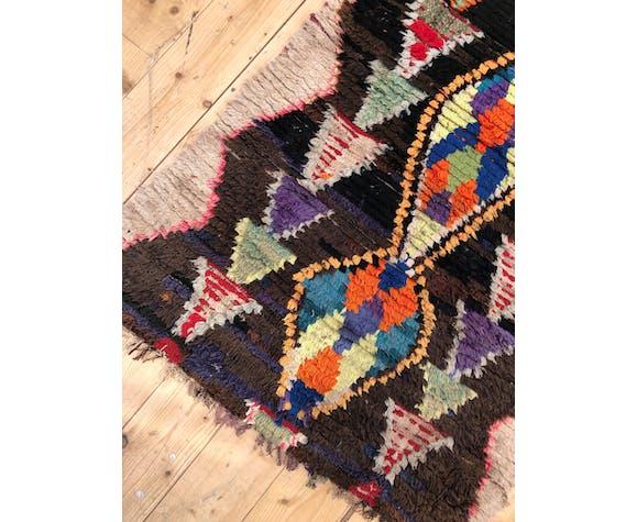 Moroccan Berber rug Old Azilal / vintage 2.55x0.85m
