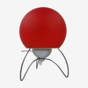 Lampe tripode rouge Murano années 70/80