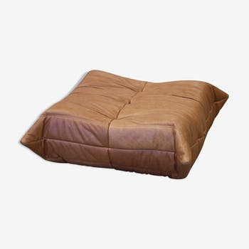 """Ottoman """"Togo"""" leather by Michel Ducaroy for Ligne Roset"""