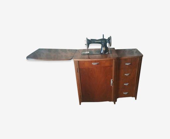 meuble machine coudre ancienne singer