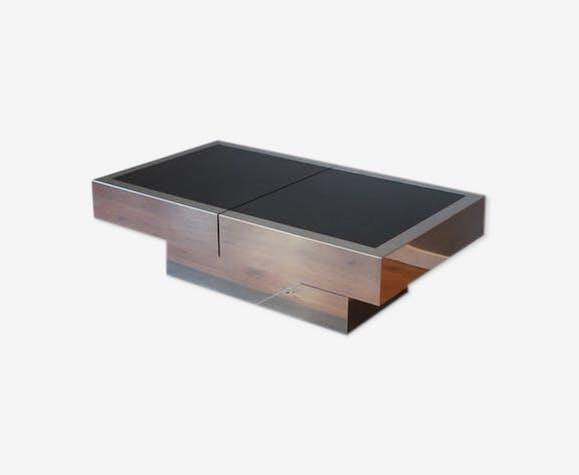 Table basse avec bar intégré 1970