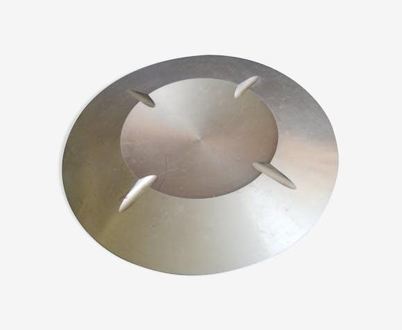 Cendrier extra plat aluminium sculpté