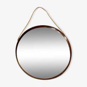 Miroir en bois circulaire