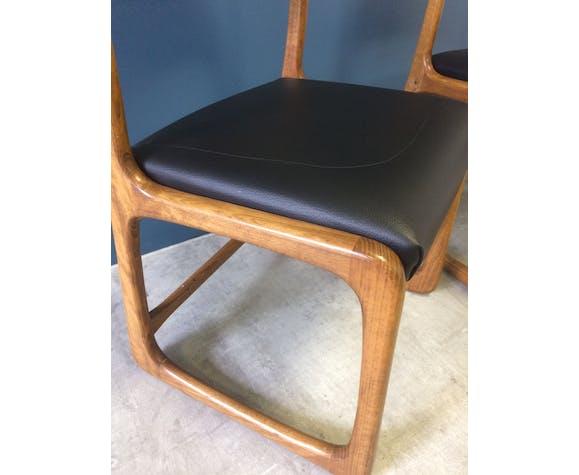 Série de 6 chaises traineaux de chez Baumann
