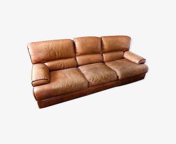nouveau produit 61e83 dfad1 Canapé cuir roche bobois - cuir - marron - vintage - 34V3IKt