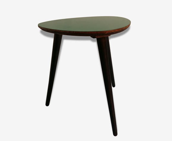 table basse tripode annes 50 formica vert