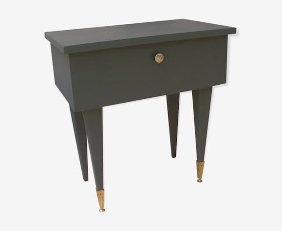 Table de chevet vintage grise