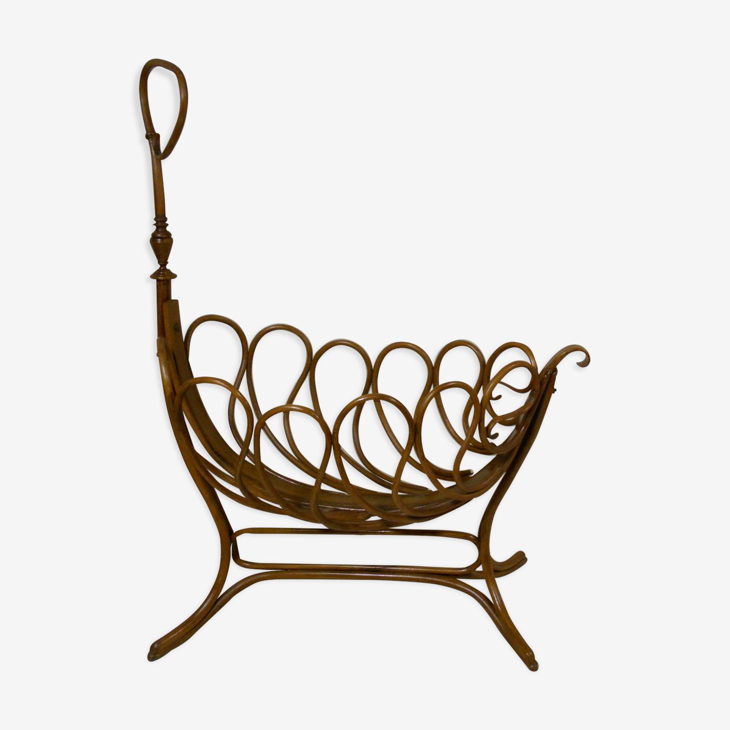 Berceau art nouveau en bois courbé