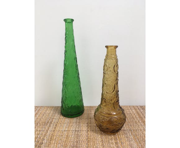 Lot of 2 Empoli style decanters