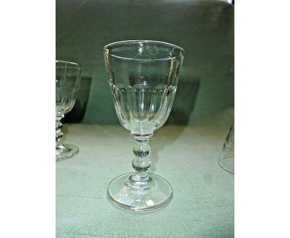 Set of 3 old crystal glass sote flat double balustre taste Baccarat Gondole
