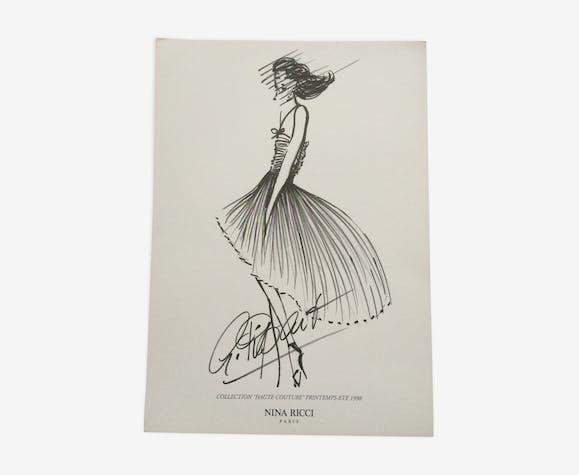 Nina Ricci : illustration de mode des années 90
