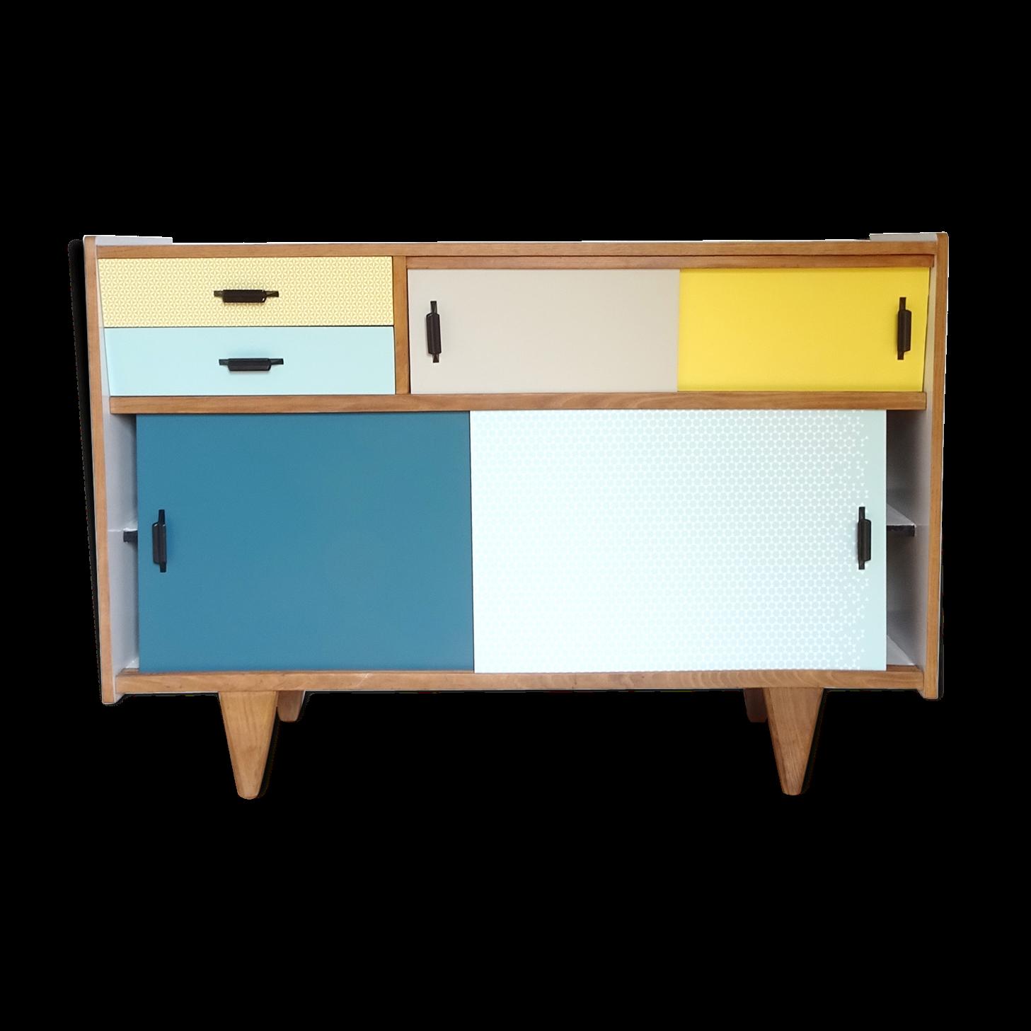 Meuble formica vintage awesome table vintage formica rouge meubles et rangements par archiretro - Recouvrir un meuble en formica ...