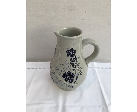 Ancien pichet céramique allemande grise