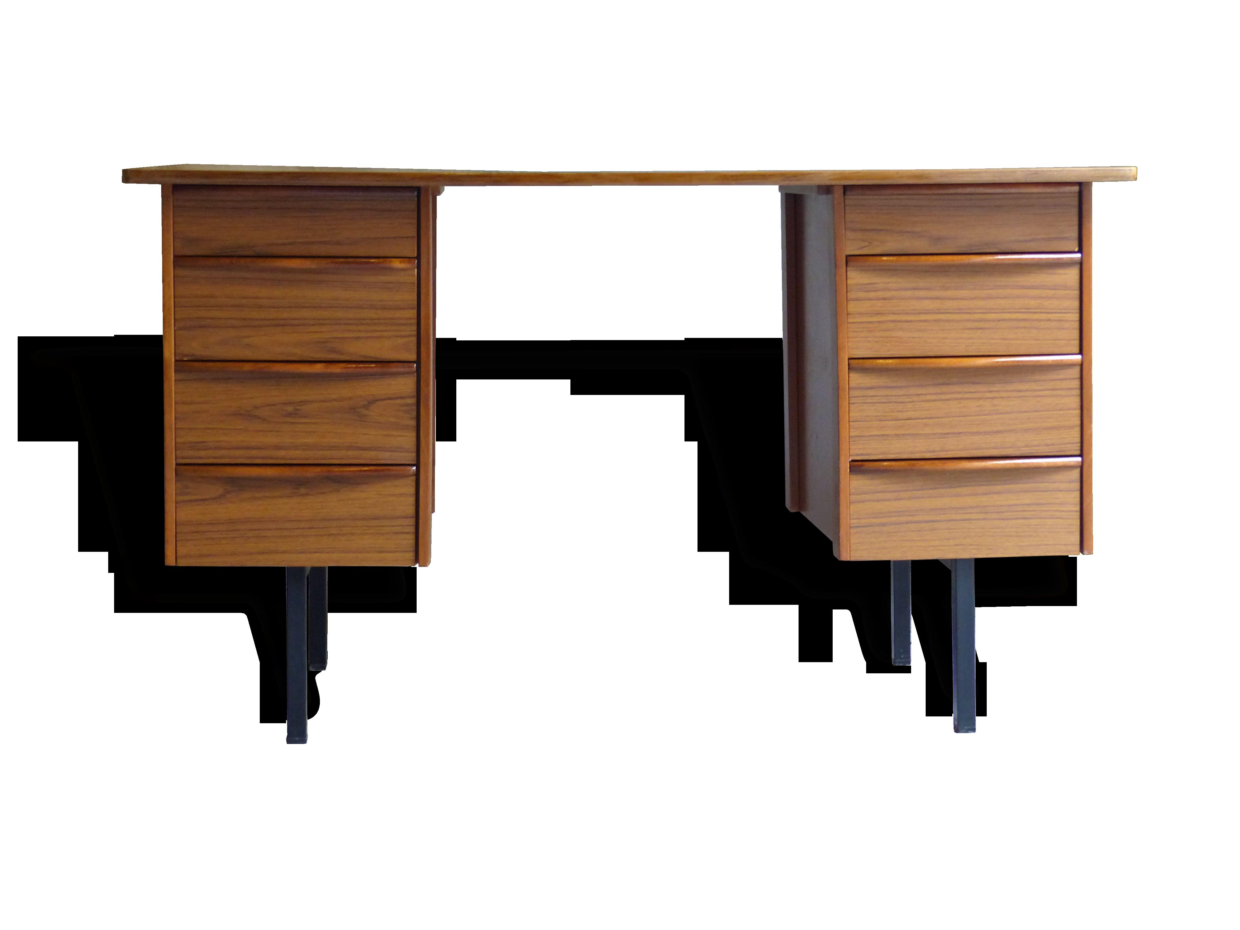 Bureau en frêne et formica bois matériau vintage