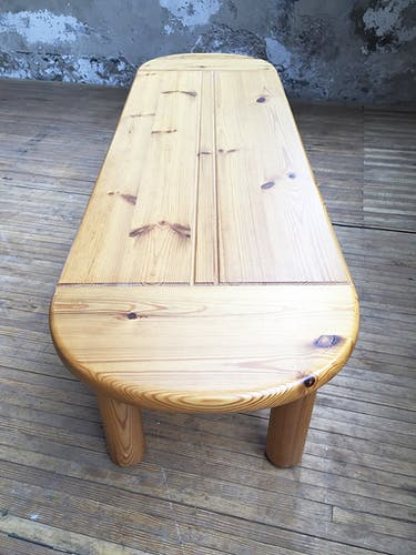 50s pine coffee table