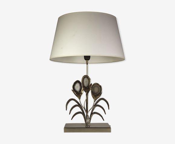 Lampe Willy Daro en pierre d'agate