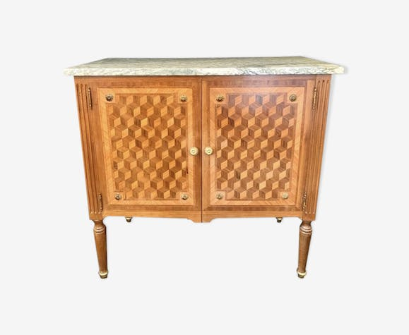 Commode d'apparat marqueterie cube