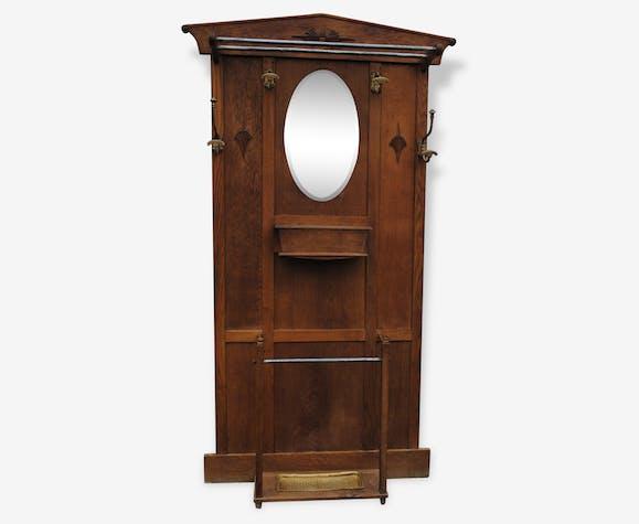 vestiaire porte manteau ancien en bois bois mat riau. Black Bedroom Furniture Sets. Home Design Ideas