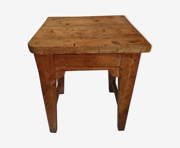 Table D Appoint Billot De Cuisine Ancien Wood Wooden