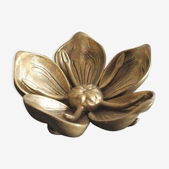 Cendrier fleur en laiton à pétales amovibles style Art Nouveau