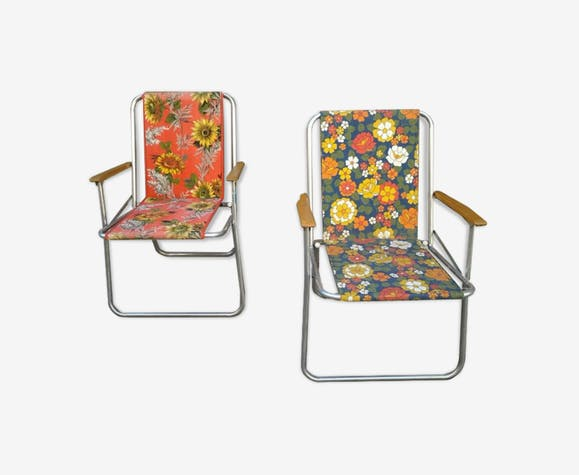 Orange Vintage Kettler 70's Paire Tissu De Camping Chaises LSzGqMpUV