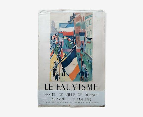 """Affiche """"Le Fauvisme"""" Raoul Dufy"""