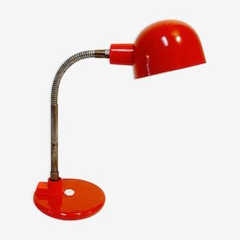 Lampe vintage rouge marque Aluminor