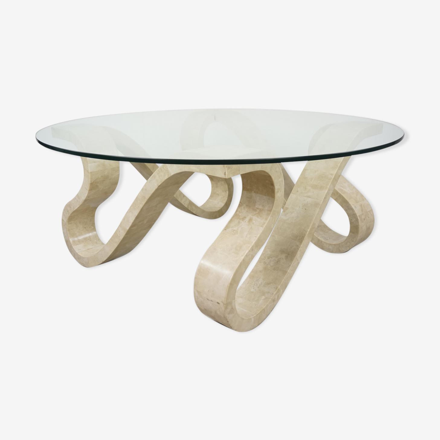 Table basse Ruban années 70