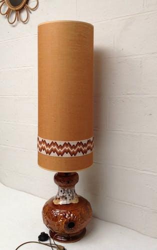 lampe de sol céramique vintage 60-70