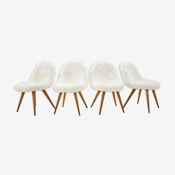 Ensemble de 4 chaises Miroslav Navratil Shell  années 1960