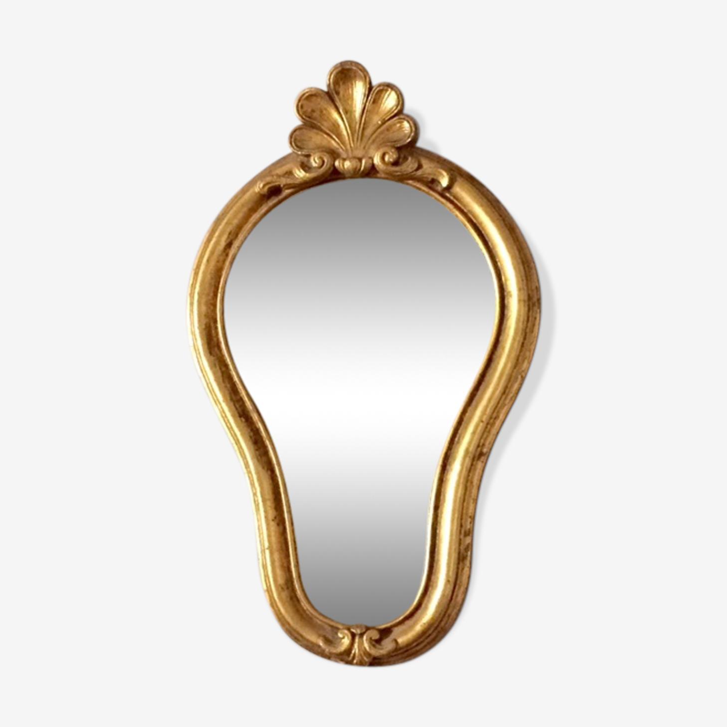 Miroir baroque cadre en bois doré 29x48 cm