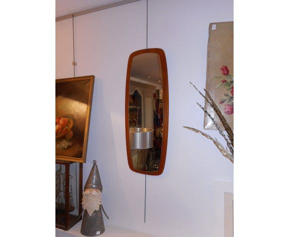 Miroir teck scandinave 30x76cm