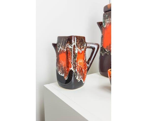 VALLAURIS orange brown coffee service