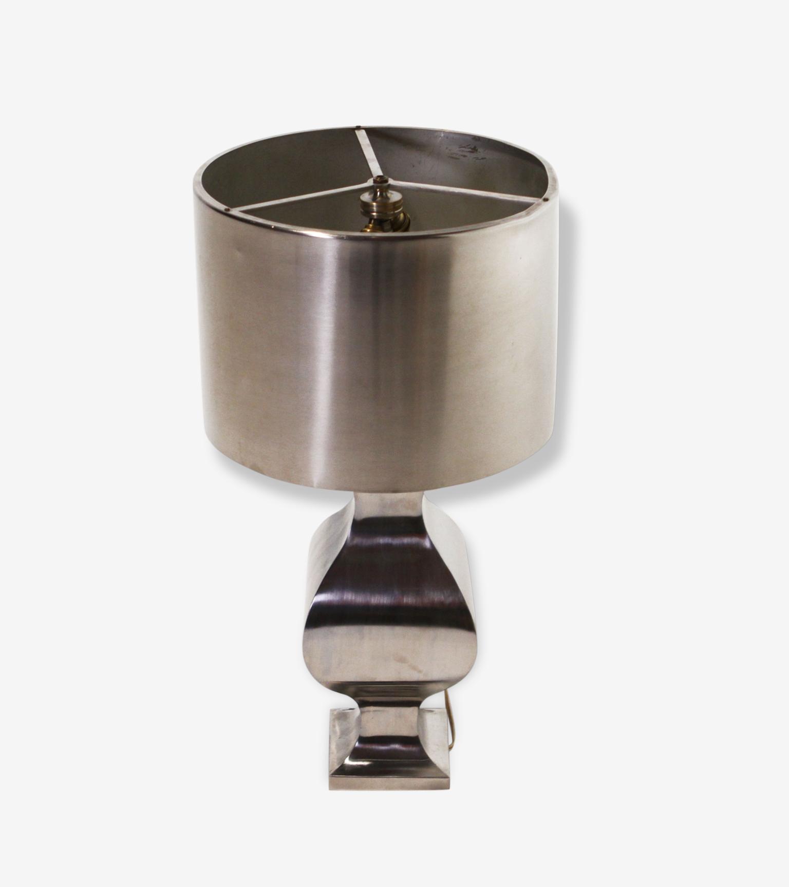 Lampe Maison Charles Annees 70 Metal Argent Couleur Vintage