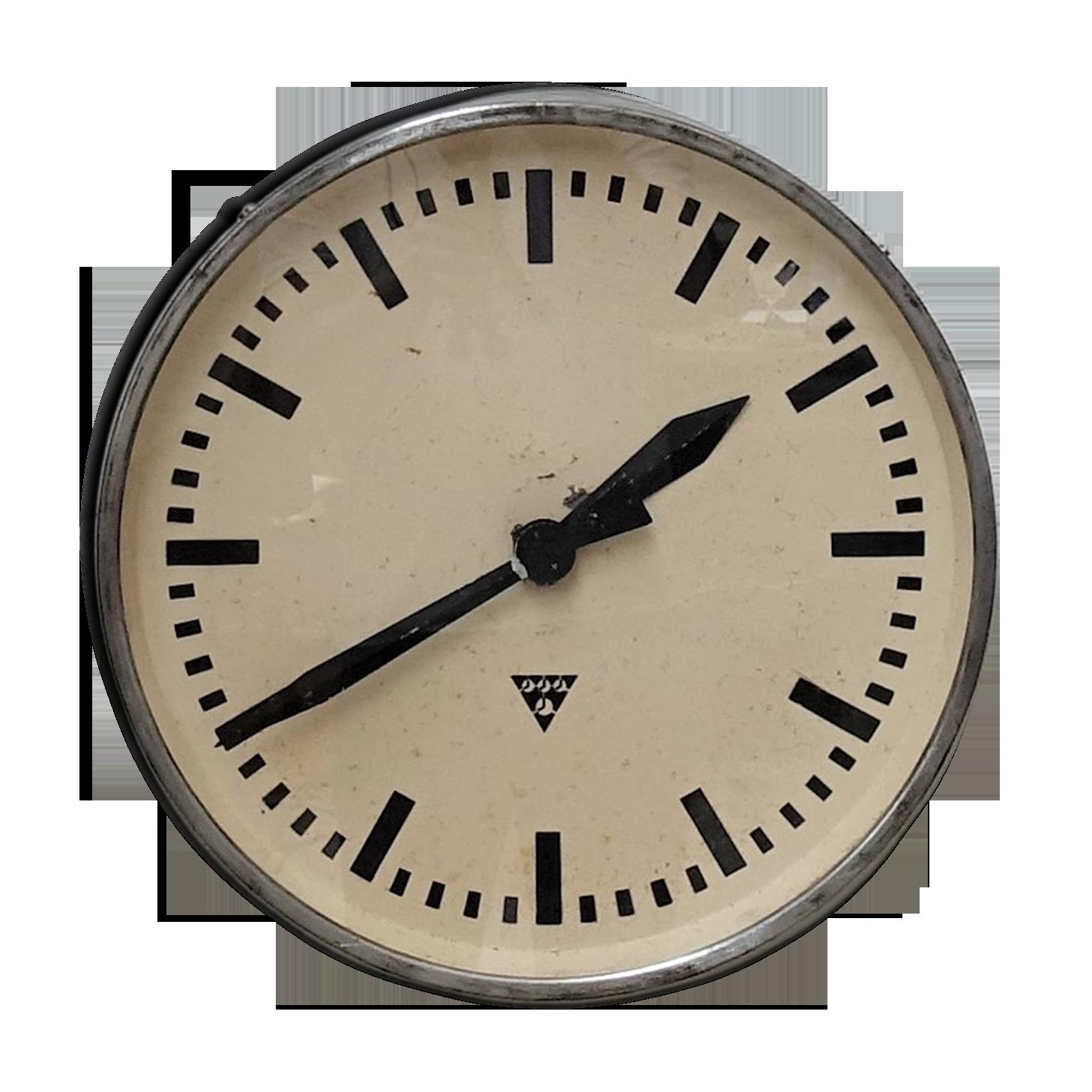 Horloge Murale Double Cadran avec Potence de Fixation Pendule Double Face pour L/'int/érieur et L/'ext/érieur Maison Jardin Cuisine Cour S/éjour Iglobalbuy Horloge de Gare R/étro Noire
