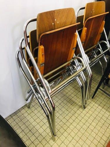 Suite de 6 chaises pliantes Mauser par Erich Schelling