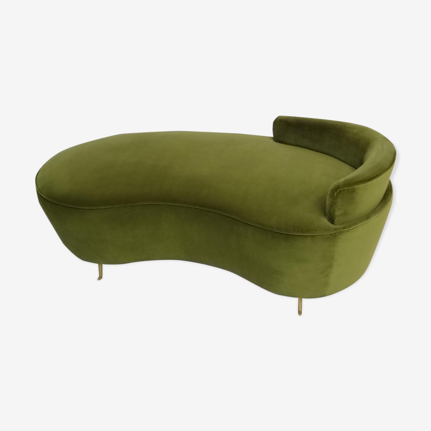 Canapé de velours courbe